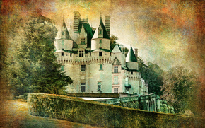 �����: Usse castle, castle, Indre-et-Loire department, France, vintage