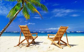 Настроения: chairs, beach, palms, boats, Maldives
