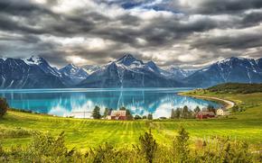 Город: mountains, Djupvik, Troms, Norway