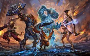 Игры: Smite, war, heroes, fantasy, weapons, magick, girl, monsters