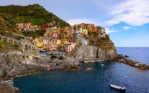�����: Manarola, Cinque Terre, Italy, Ligurian Sea, ��������, ������-�����, ������, ����������� ����, �����, ����, ������, ������, ��������, �����, ���������
