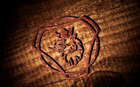 Рендеринг: Scania logo 3D, Logo scsnia, Скания, Грифон, Логотип Скания, 3D logo scania.