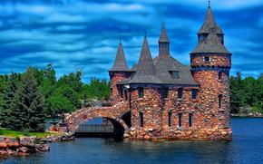 Пейзажи: Замок Болдт, Сердце Острова, Александрия-Бэй, Нью-Йорк, США