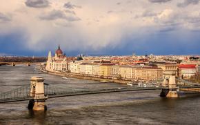 �����: Parliament, Chain Bridge, Budapest, Hungary