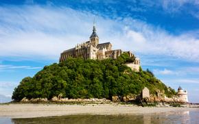 �����: Le Mont Saint Michel, island commune, Normandy, France