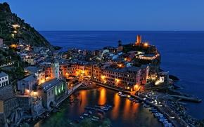 �����: Vernazza, Cinque Terre, Liguria, Italy, Ligurian Sea, ��������, ������-�����, �������, ������, ����������� ����, ����, ���������, �����, �����, ������
