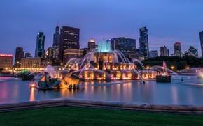 �����: Buckingham Fountain, Chicago, ���