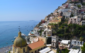 �����: Positano, Campania, Italy, Amalfi Coast, Gulf of Salerno, ��������, ��������, ������, �������������� ���������, ���������� �����, ����, �����, ���������, ������, �����, ������