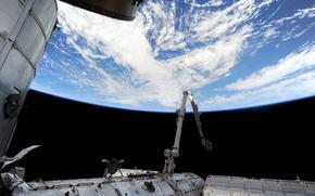 Космос: Атлантический океан, Земля, МКС, космос