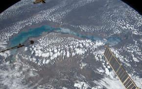 Космос: Озеро Балхаш, Казахстан, МКС, Земля, космос