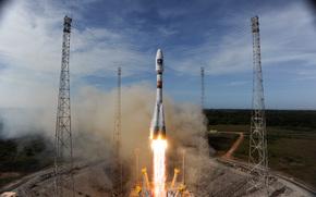 Космос: Ракета-носитель, Союз-СТ-А, с европейским спутником, Плеяды-1Б, космос