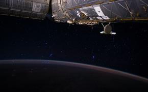 Космос: МКС, космос, звёзды, поверхность, Земля