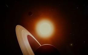 Космос: Сатурн, солнце, звёзды, космос