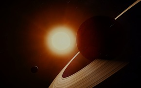 Космос: Сатурн, солнце, звёзды, пространство, космос