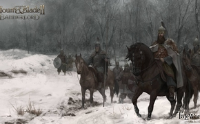 Игры: Mount and Blade 2: Bannerlord, Mount and Blade 2, Bannerlord, войско, всадники, арт