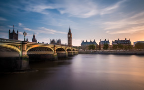Город: Big Ben, Westminster Bridge, London