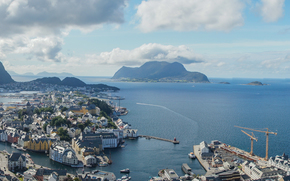 Город: Alesund, Norway, Олесунн, Норвегия, панорама