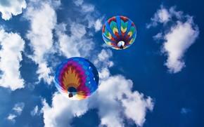 Рендеринг: небо, облака, воздушные шары