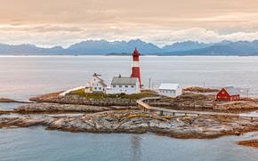 Пейзажи: норвегия, маяк, скалы, пейзаж