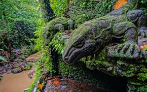 �������: Ubud Monkey Forest, Ubud, Bali, Indonesia, Statue of a Komodo dragon, ����, ����, ���������, ��������� ���, ����������, ������, ���, ����