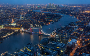 Город: London, Великобритания, город, вид с верху