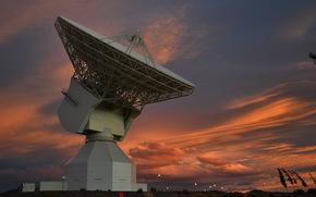 Космос: Станция Нового Норсиа, Австралия, радар, космос, небо, вечер