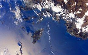 Город: Остров, Родос, города, Ксанф и Летоон, море, облака, планета, Земля, космос