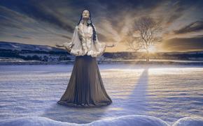 Настроения: Thais Silva, мольба, зима, снег, дерево, природа