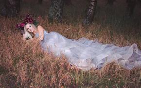 Настроения: Lauren Hallworth, невеста, платье, венок