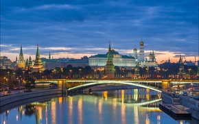 Город: Russia, Moscow, Kremlin and Big Stone bridge, Москва, кремль, Россия