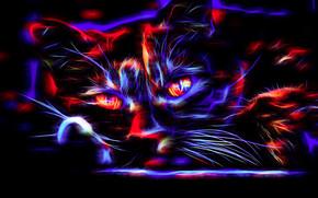 Рендеринг: кошка, кот, 3d, art