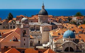 �����: Luza Square, Dubrovnik Cathedral, Assumption Cathedral, Church of Saint Blaise, Dubrovnik, Croatia, Adriatic Sea, ������� ����, ����� ���������� ���� �����, ������� ������� �����, ���������, ��������, ������������� ����, �����, �������, ���