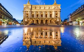 Город: Palais Garnier, Paris Opera, Paris, France, Опера Гарнье, Гранд-опера, Париж, Франция, здание, отражение