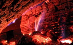 Макро: угли, огонь, макро