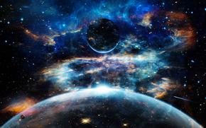 Космос: космос, планеты, 3d