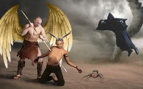 Обои Ситуации: Путин, Обама, Порошенко, политика, искусство, арт, наказание, Россия, Украина, США