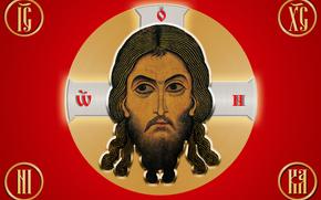 Абстракция: флаг, Россия, Иисус Христос, религия, вера, лик, христианство