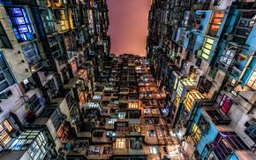 Город: Дом, окна, двери, плинтуса, Гонконг, Китай