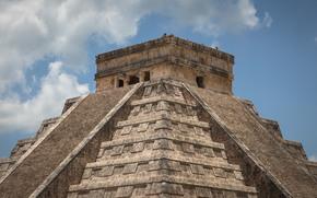 Город: Пирамида, Храм Кукулькана, Чичен-Ица, Мексика