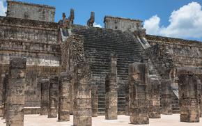Город: Чичен-Ица, Юкатан, Мексика, архитектура
