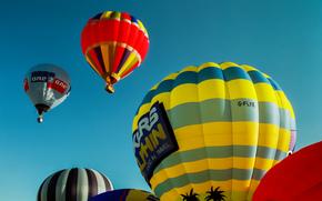 Авиация: воздушные шары, небо, полёт