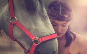 Настроения: Arancha Ari Arevalo, модель, лошадь, конь, морда, настроение