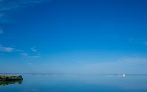 Пейзажи: Волгоградское море, Россия, корабль, небо, пейзаж
