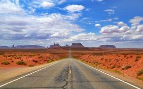 Пейзажи: Monument Valley, Arizona, дорога