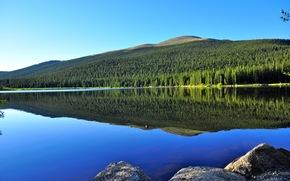 Пейзажи: Echo Lake, Monashee Mountains, British Columbia, Canada, озеро