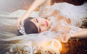 Настроения: азиатка, невеста, фата, фонарь, настроение