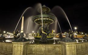 Город: Париж, Франция, placedelaconcorde, фонтан