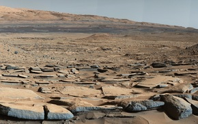 Космос: Марс, фото, наука, космос, поверхность, планета, природа, пейзаж, камни, панорама