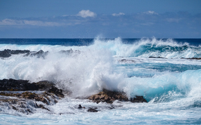Пейзажи: море, волны, скалы, брызги, пейзаж