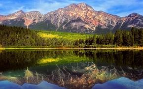 �������: Pyramid Mountain near Jasper, Alberta, Canada, �����, ����, �������, �����, ������